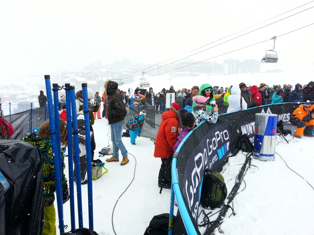 Slopestyle finish area